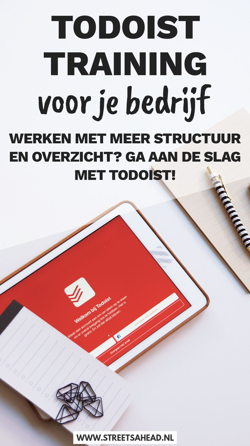 Todoist training bij Streets Ahead